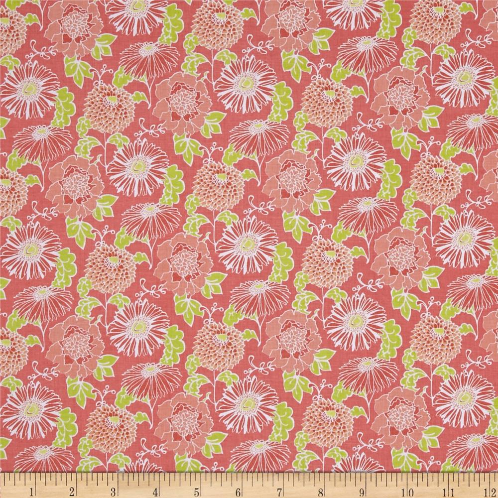 Stonewall Bloom Medium Toss Floral Coral