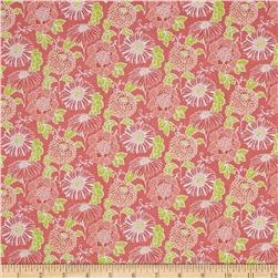 Stonewall Bloom Medium Toss Floral Coral Fabric