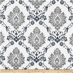 RCA Sheers Damask Black/Grey Fabric