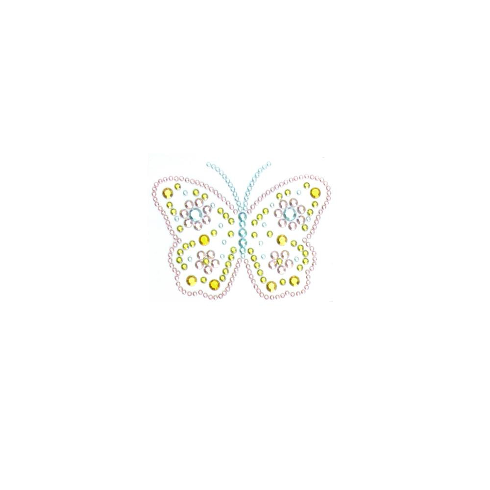 Butterfly Rhinestud Applique Pastel