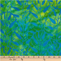 Kaufman Artisan Batiks Totally Tropical Fern Stripe Island Green