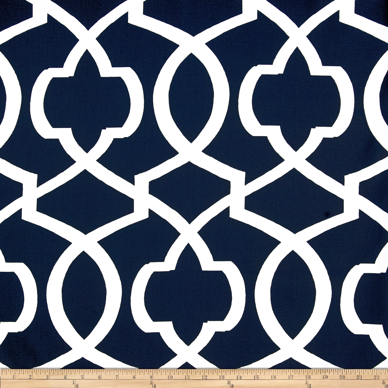 Premier Prints Morrow Navy/White Fabric