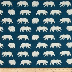 Birch Organic Bear Camp Interlock Knit Bear Hike Blue