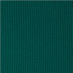 Cotton Poly Thermal Knit Dark Teal Green