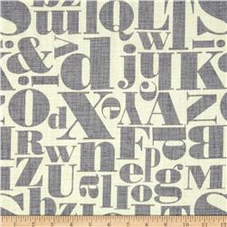 Michael Miller Just My Type Letterpress Grey