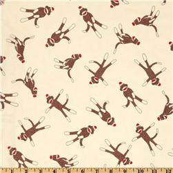 Moda Funky Monkey Sock Cream Fabric