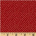 Confetti Sparkle Metallic Mini Dots Red