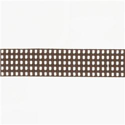 Riley Blake 5/8'' Grosgrain Ribbon Gingham Brown