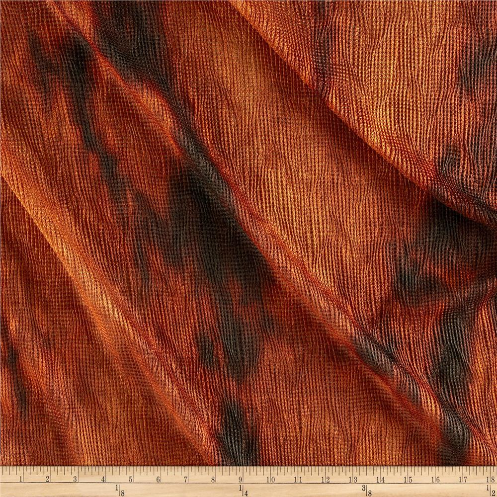 Bombay Crush Knit Fabric Burnt Orange