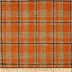 60'' Sultana Burlap Plaid Orange Fabric
