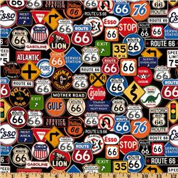 Get Your Kicks Route 66 Signs Black/Multi