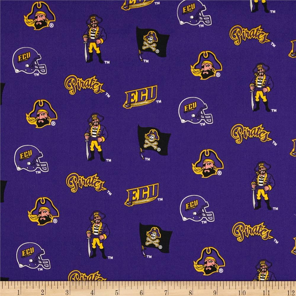 Collegiate Cotton Broadcloth East Carolina University Royal Purple