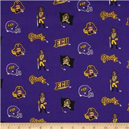 Collegiate Cotton Broadcloth East Carolina University Royal