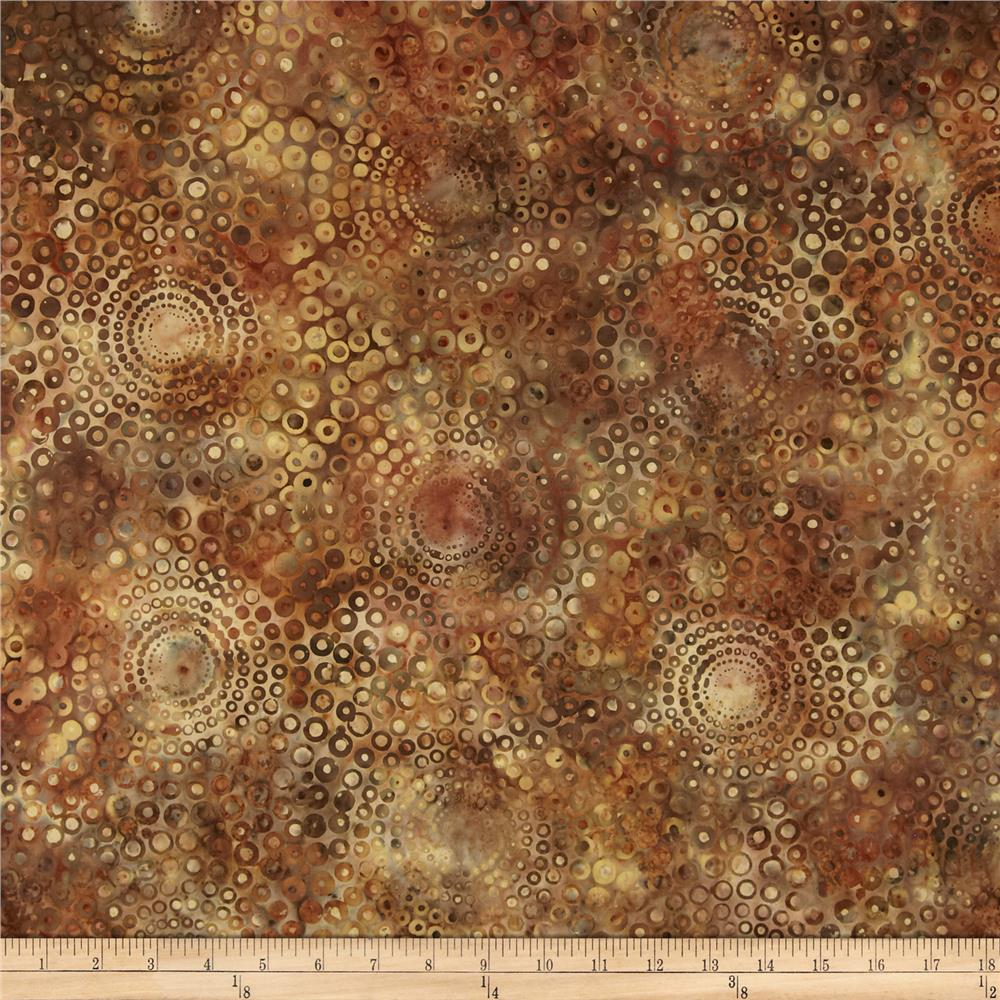 Bali Batiks Handpaints Circle Bursts Palomino
