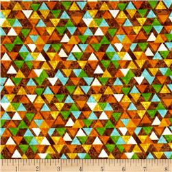 Safari Expedition Triangles Brown