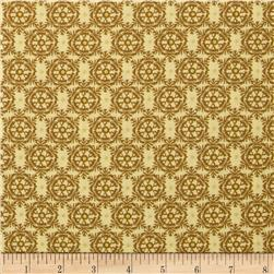 Lonni Rossi's Small Medallions Cream/Brown Fabric