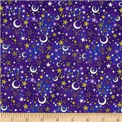 Enchanted Kingdom Moons & Stars Purple