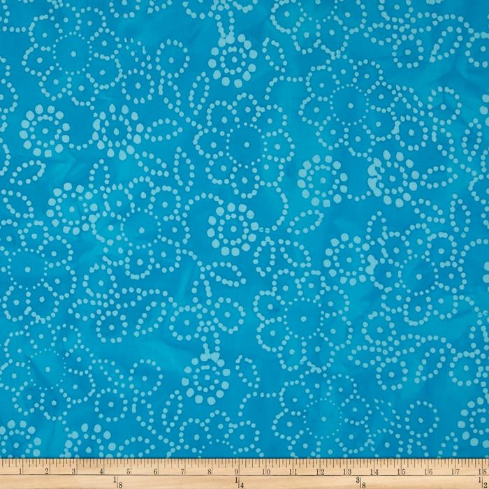 Indian Batik Hollow Ridge Floral Aqua
