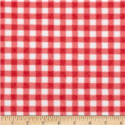 Zig Zag Zoo Flannel Gingham Pink/White