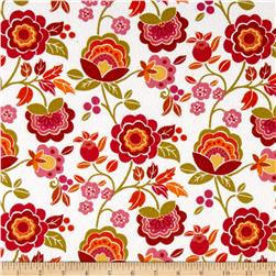 Intrigue Fancy Flannel Large Floral White