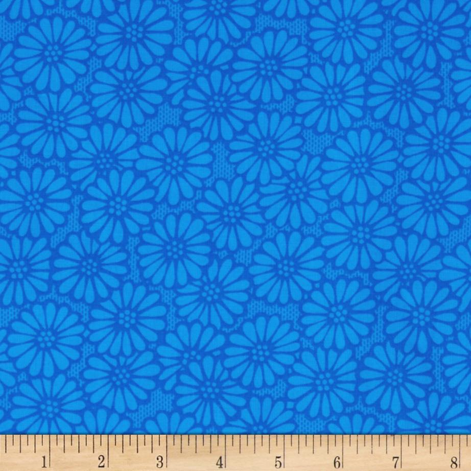 "110"" Wide Quilt Backing Daisy Blue"