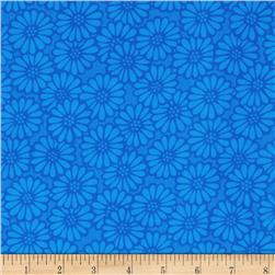 110'' Wide Quilt Backing Daisy Blue