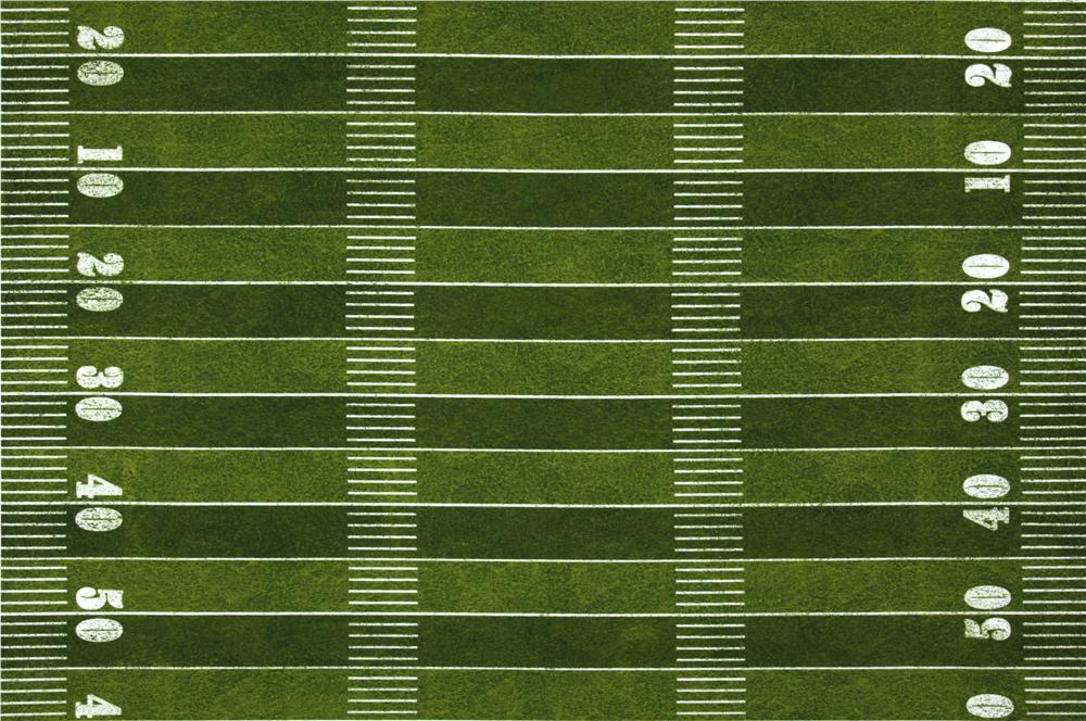 Sports Life Football Field Double Border Green