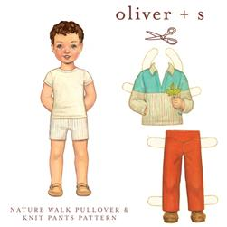 Oliver + S Nature Walk Pullover + Knit Pants Pattern Sizes 5-12