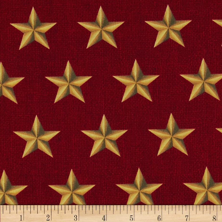 American Heroes Large Stars Gold/Red