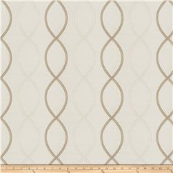Fabricut Genial Embroidered Satin Pearl