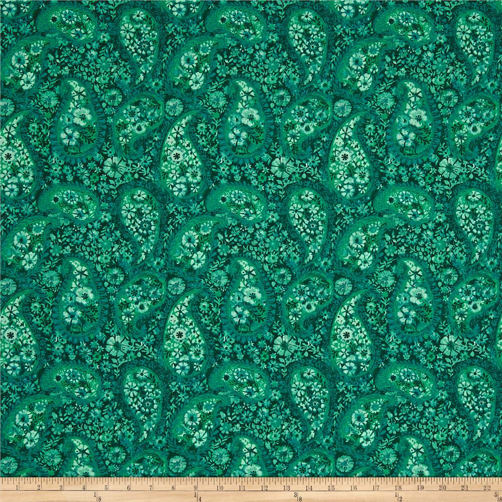 108 Quot Wide Back Paisley Emerald Green Discount Designer