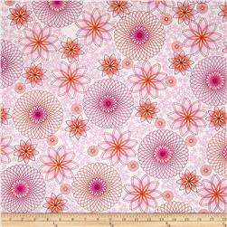 Hot Topic Spiral Floral Pink Fabric