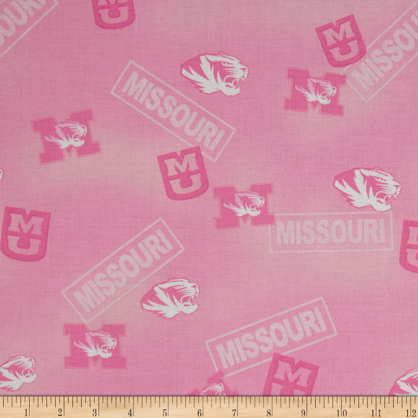 Collegiate Cotton Broadcloth Missouri Pink Fabric