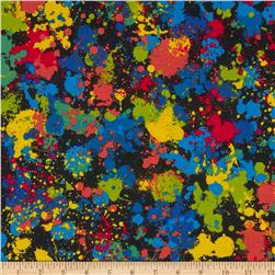 Timeless Treasures Sports Paint Splatter Black