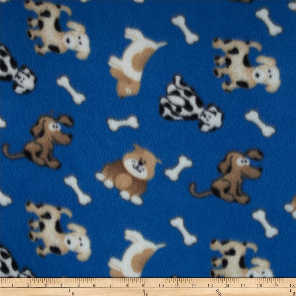 Polar Fleece Prints Dog Bone Royal