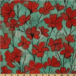 Michael Miller Cosmos Collection Daylillies Red
