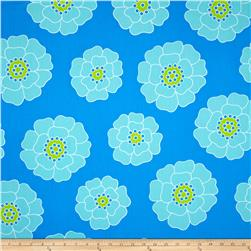 Contempo Palm Springs Big Bloom Blue Fabric