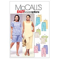 McCall's Women's Top, Tunics, Shorts & Capri Pants Pattern M4097 Size KK0