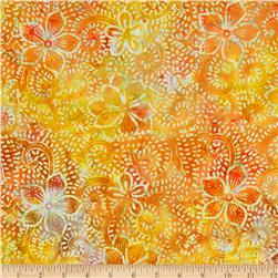 Moda Breezy Batik Floral Citrus Orange/Green