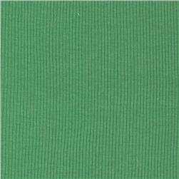 Basic Cotton Rib Knit Green