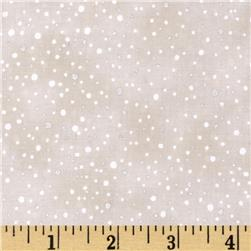 Woodsy Winter Metallic Snow Dots Parchment/Silver