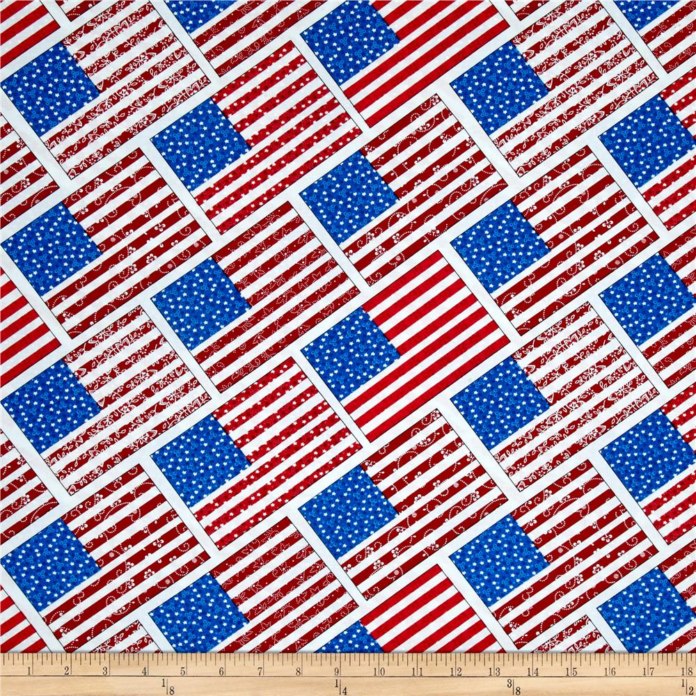 Let Freedom Ring Diagonal Flag Red/Blue