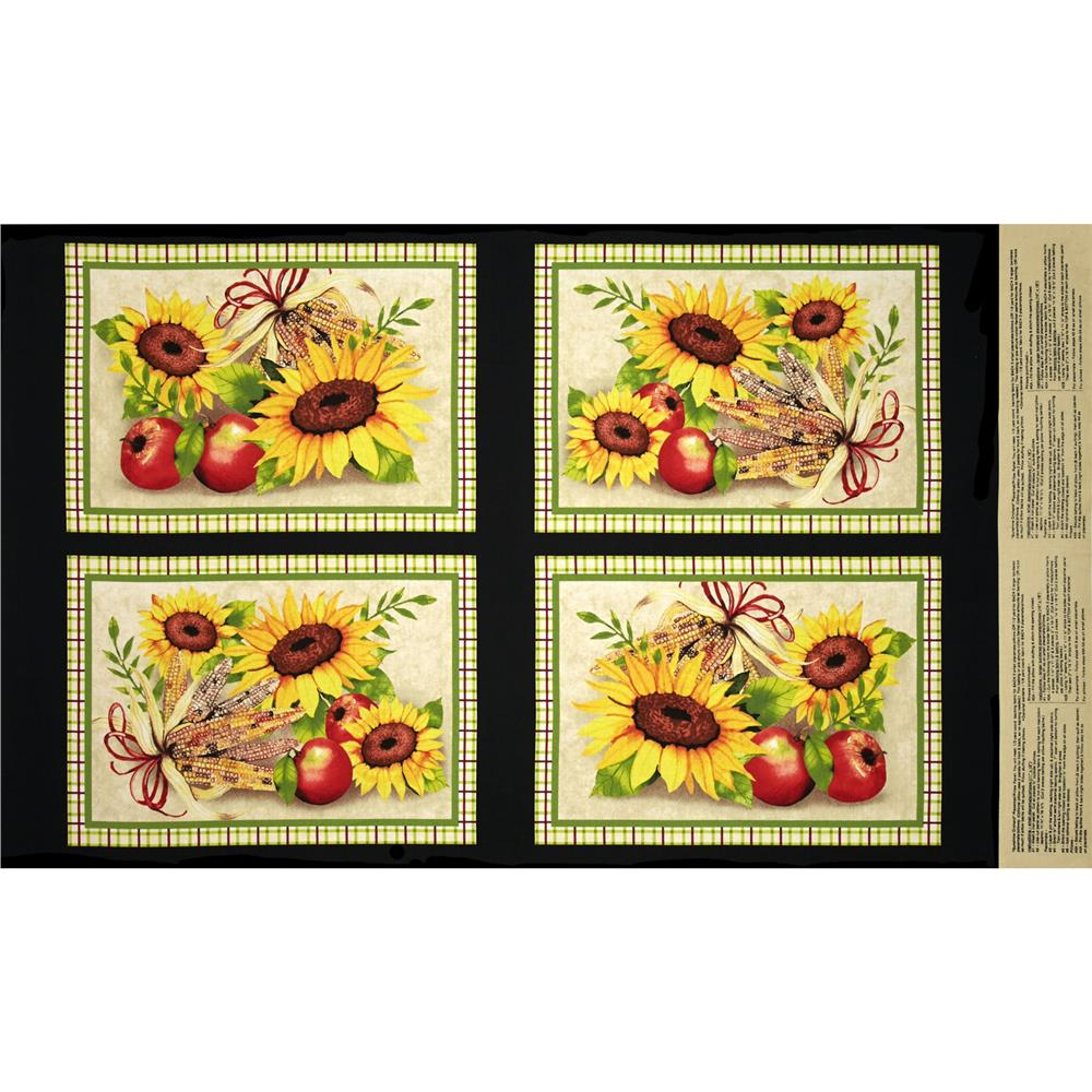 Sunshine Orchard Placemat Panel Multi Fabric By The Yard