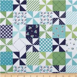 Riley Blake Country Girl Flannel Country Patchwork Navy
