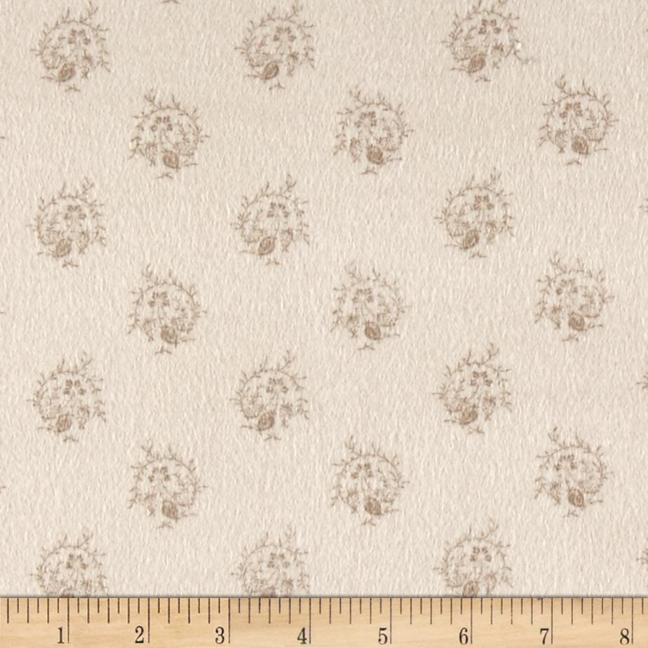 Cozies Flannel Large Foulard Tan Fabric By The Yard