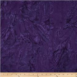 Bali Batik 108'' Wide Watercolor Waves New Grape