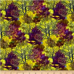 Shades of the Season 6 Metallic Autumn Trees Jewel Light Green