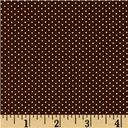 Kaufman Sevenberry Petite Basics Mini Dot Brown