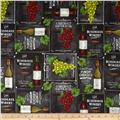 Vineyard Harvest Wine Varities Charcoal
