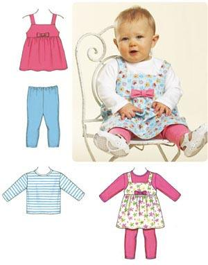Kwik Sew Baby Jumper, Top & Leggings Pattern